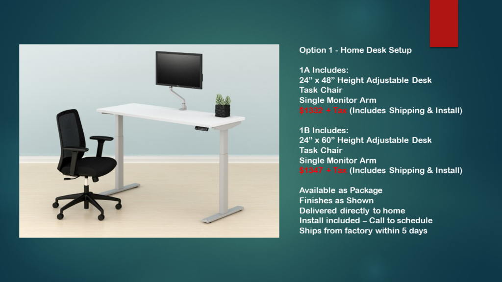 Home Desk Setup Option 1